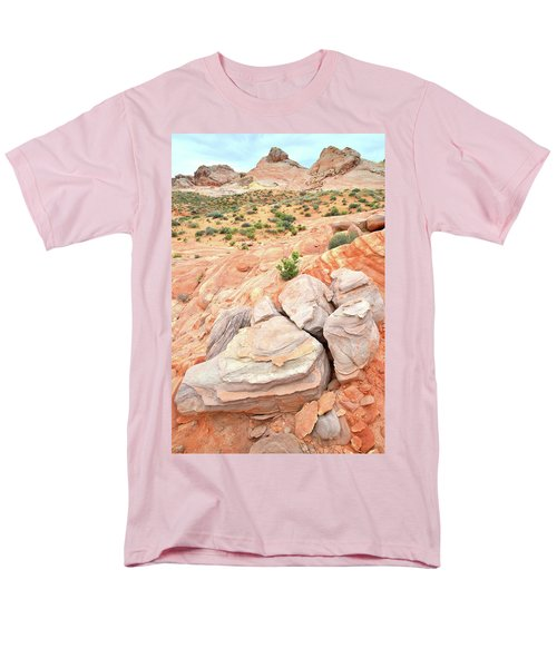 Men's T-Shirt  (Regular Fit) featuring the photograph Multicolored Sandstone In Valley Of Fire by Ray Mathis