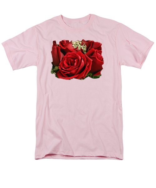Men's T-Shirt  (Regular Fit) featuring the photograph A Bouquet Of Red Roses by Sue Melvin