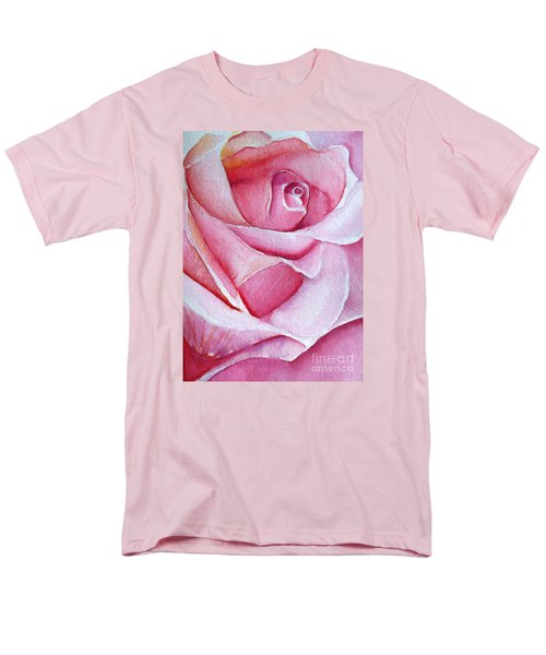 Men's T-Shirt  (Regular Fit) featuring the painting A Rose For You by Allison Ashton