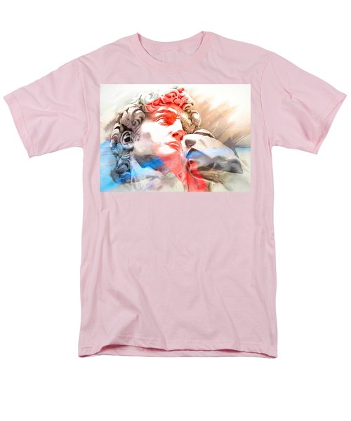Men's T-Shirt  (Regular Fit) featuring the painting Abstract David Michelangelo 2 by J- J- Espinoza