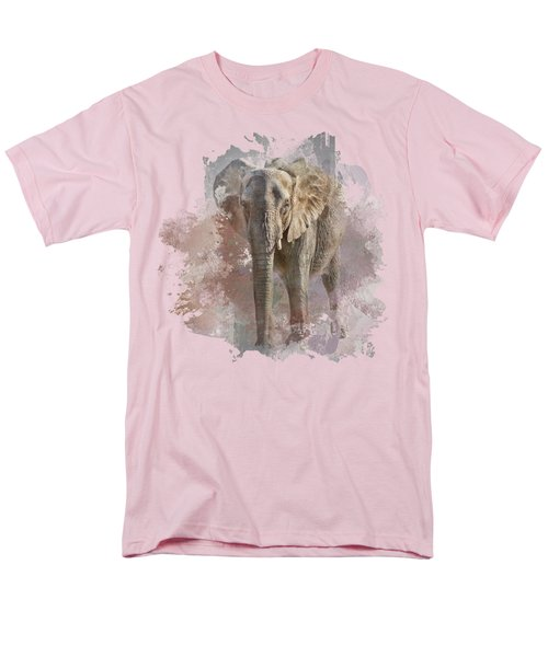 African Elephant - Transparent Men's T-Shirt  (Regular Fit) by Nikolyn McDonald