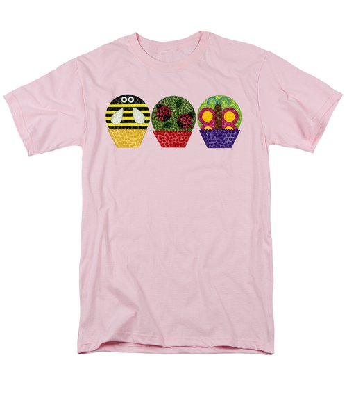 Animal Cupcakes 1 Men's T-Shirt  (Regular Fit) by Emily Kim