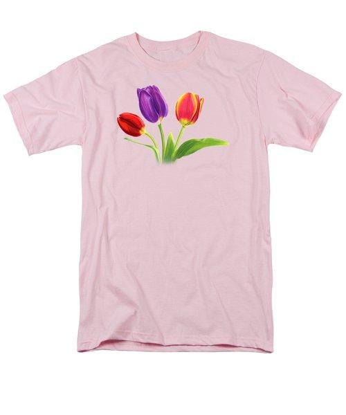 Tulip Trio Men's T-Shirt  (Regular Fit) by Sarah Batalka
