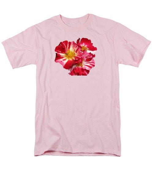 July 4th Rose Men's T-Shirt  (Regular Fit)