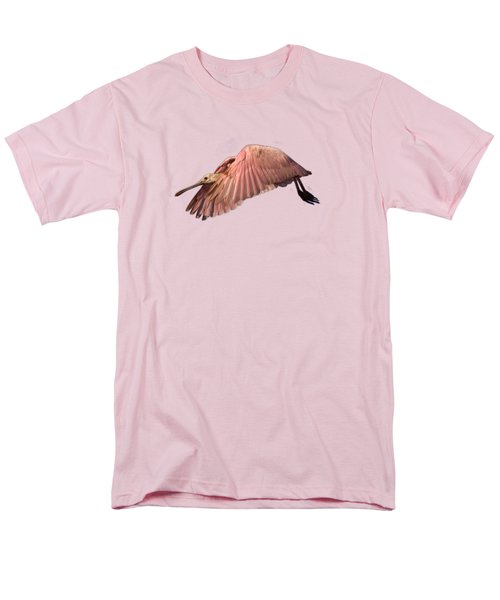 Roseate Spoonbill In Flight Men's T-Shirt  (Regular Fit) by John Harmon