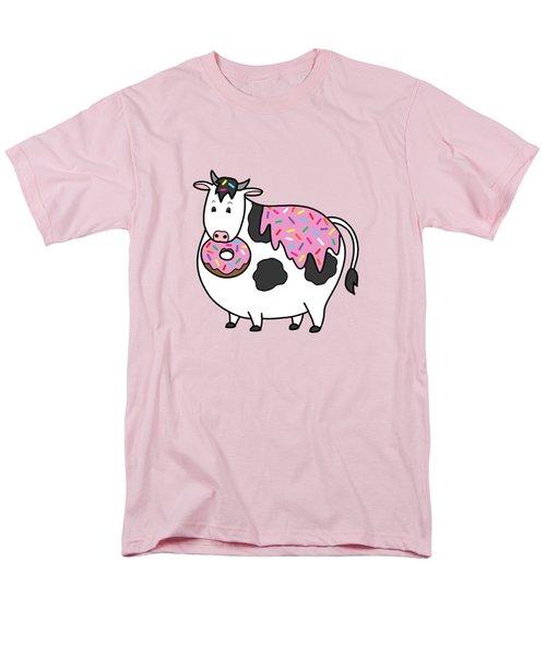 Funny Fat Holstein Cow Sprinkle Doughnut Men's T-Shirt  (Regular Fit)