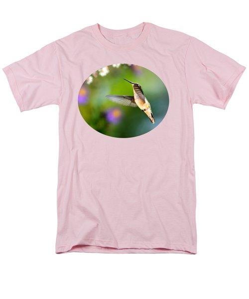 Garden Hummingbird Men's T-Shirt  (Regular Fit) by Christina Rollo