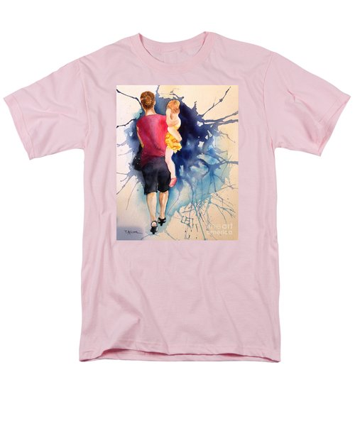 Men's T-Shirt  (Regular Fit) featuring the painting Ballet Mum - Original Sold by Therese Alcorn
