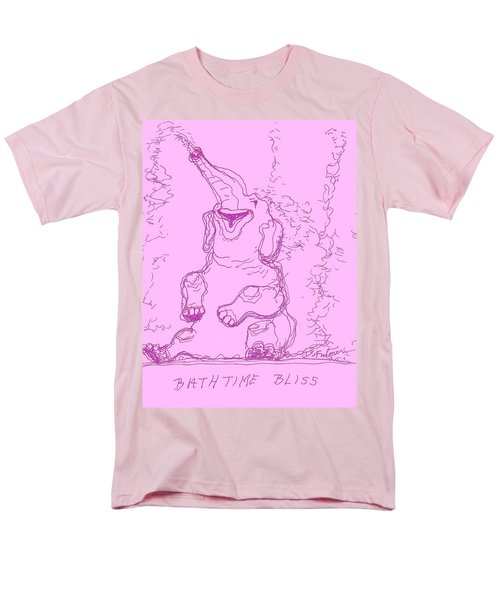 Men's T-Shirt  (Regular Fit) featuring the drawing Bath Time Bliss by Denise Fulmer