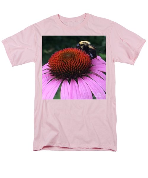 Men's T-Shirt  (Regular Fit) featuring the photograph Bee On Flower By Saribelle Rodriguez by Saribelle Rodriguez