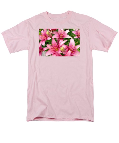 Men's T-Shirt  (Regular Fit) featuring the photograph Blush Of The Blossoms by Randy Rosenberger