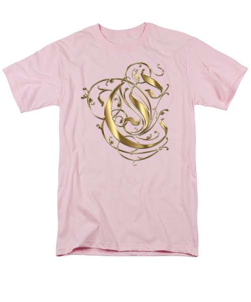 C Ornamental Letter Gold Typography Men's T-Shirt  (Regular Fit) by Georgeta Blanaru