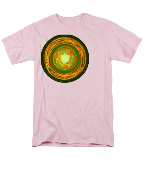 Men's T-Shirt  (Regular Fit) featuring the digital art Celtic Abstract On Green by Jane McIlroy