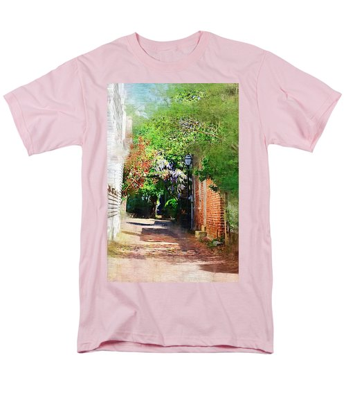Men's T-Shirt  (Regular Fit) featuring the photograph Charlestons Alley by Donna Bentley