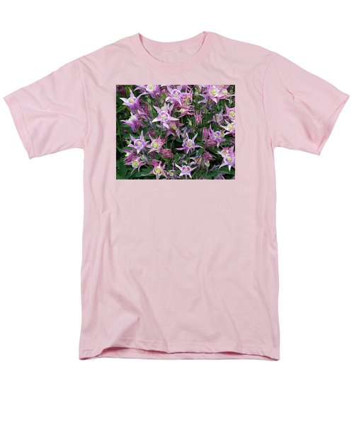 Men's T-Shirt  (Regular Fit) featuring the photograph Columbine Splendor by Lynda Lehmann