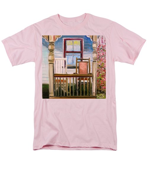 Men's T-Shirt  (Regular Fit) featuring the painting Cottage Rockers by John Williams