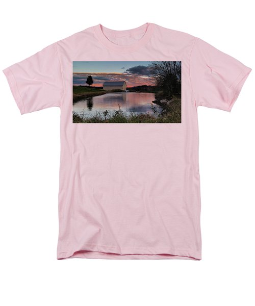Men's T-Shirt  (Regular Fit) featuring the photograph Country Living Sunset by Lara Ellis