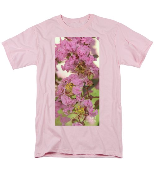Crepe Myrtle And Bee Men's T-Shirt  (Regular Fit) by Olga Hamilton