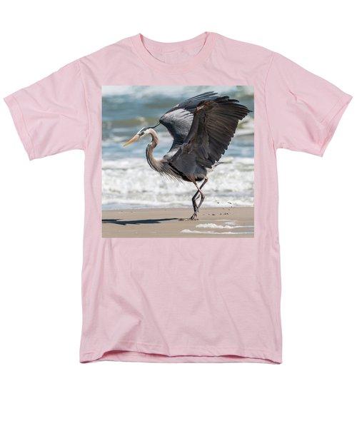 Dancing Heron #2/3 Men's T-Shirt  (Regular Fit) by Patti Deters