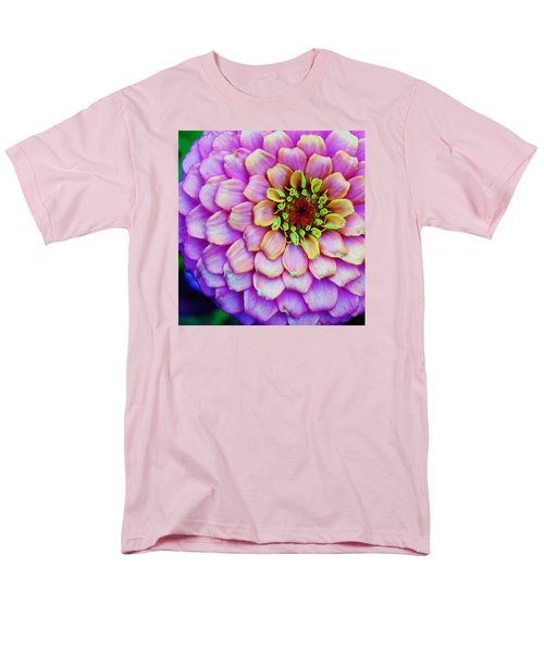 Men's T-Shirt  (Regular Fit) featuring the photograph Electrifying Zinna by Bruce Bley