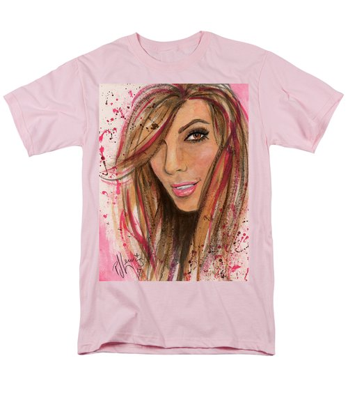 Men's T-Shirt  (Regular Fit) featuring the painting Eva Longoria by P J Lewis
