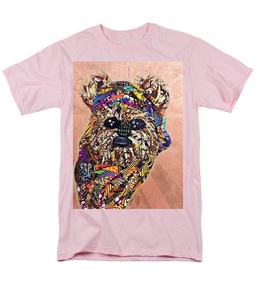 Men's T-Shirt  (Regular Fit) featuring the tapestry - textile Ewok Star Wars Afrofuturist Collection by Apanaki Temitayo M