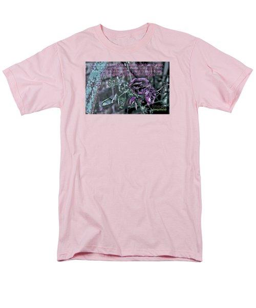Fading Rose Men's T-Shirt  (Regular Fit) by Sandy Moulder
