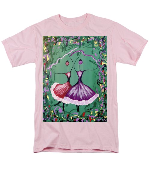 Men's T-Shirt  (Regular Fit) featuring the painting Festive Dancers by Teresa Wing