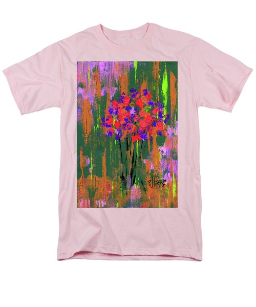 Men's T-Shirt  (Regular Fit) featuring the painting Floral Impresions by P J Lewis