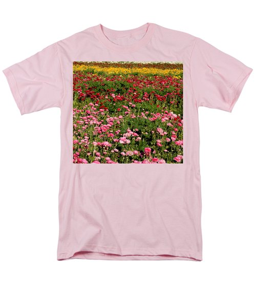 Men's T-Shirt  (Regular Fit) featuring the photograph Flower Fields by Christopher Woods