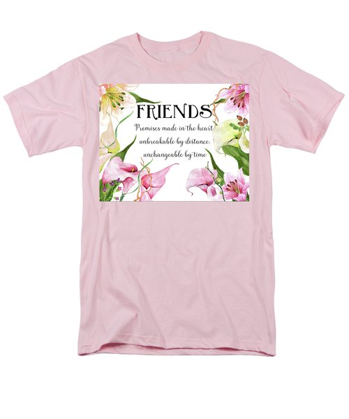 Men's T-Shirt  (Regular Fit) featuring the digital art Friends by Colleen Taylor