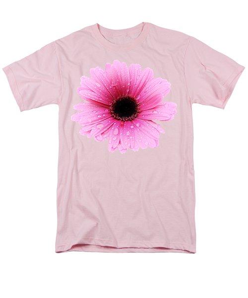 Gerbera Pink - Daisy - Up Close Men's T-Shirt  (Regular Fit) by MTBobbins Photography