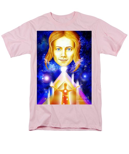 Men's T-Shirt  (Regular Fit) featuring the painting Golden Angel by Hartmut Jager