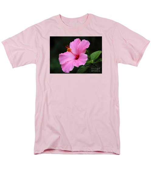 Men's T-Shirt  (Regular Fit) featuring the photograph Hibiscus In Pink by Lisa L Silva