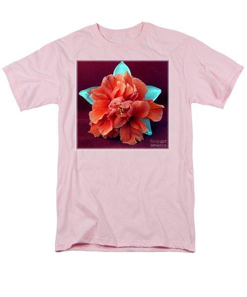 Hibiscus On Glass Men's T-Shirt  (Regular Fit) by Barbie Corbett-Newmin