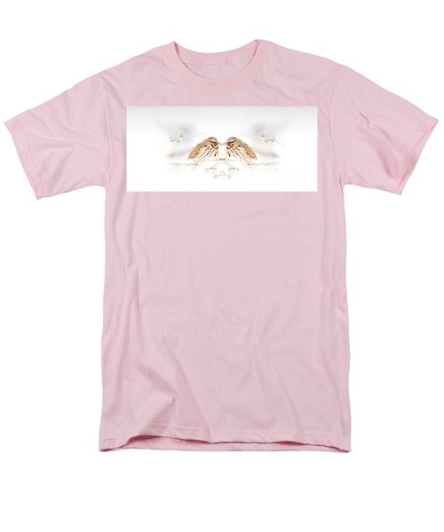 Men's T-Shirt  (Regular Fit) featuring the photograph House Sparrow by Lila Fisher-Wenzel