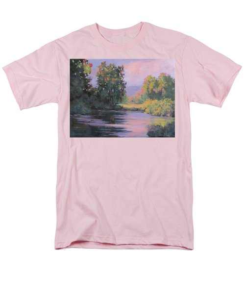 Men's T-Shirt  (Regular Fit) featuring the painting In Another Light by Karen Ilari