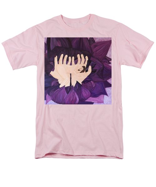 Men's T-Shirt  (Regular Fit) featuring the painting In Loving Hands by Cheryl Bailey