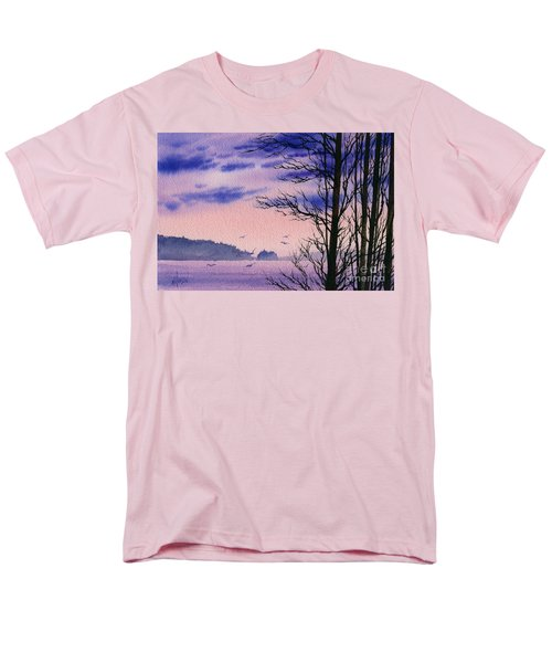 Men's T-Shirt  (Regular Fit) featuring the painting Island Point by James Williamson