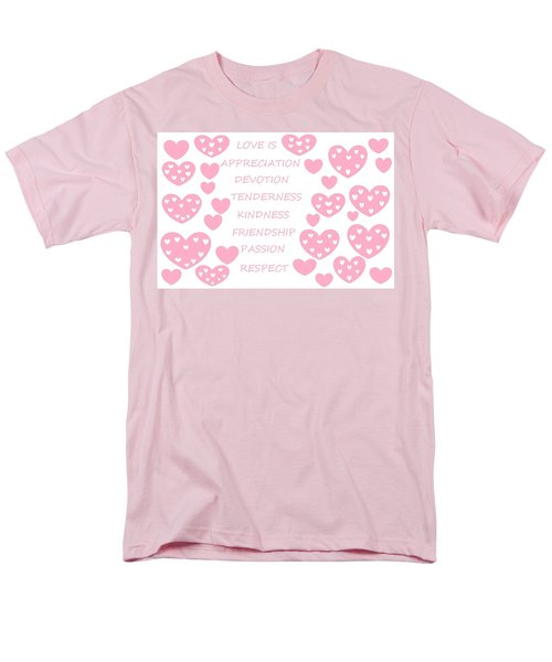 Just Hearts 3 Men's T-Shirt  (Regular Fit) by Linda Velasquez