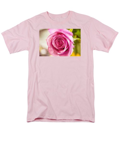 Men's T-Shirt  (Regular Fit) featuring the photograph Kissed With Pink by Joan Bertucci