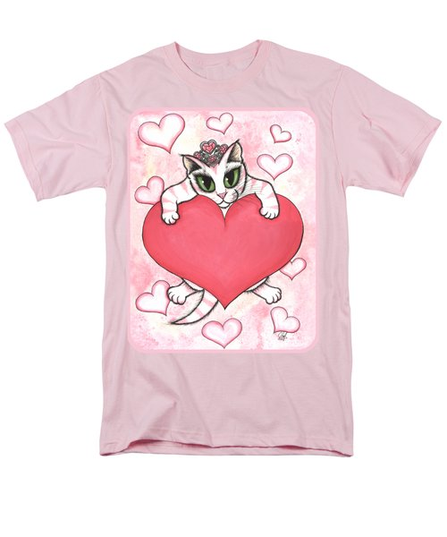 Men's T-Shirt  (Regular Fit) featuring the painting Kitten With Heart by Carrie Hawks