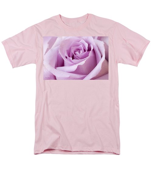 Lavender Rose Just About Perfect  Men's T-Shirt  (Regular Fit) by Sandra Foster