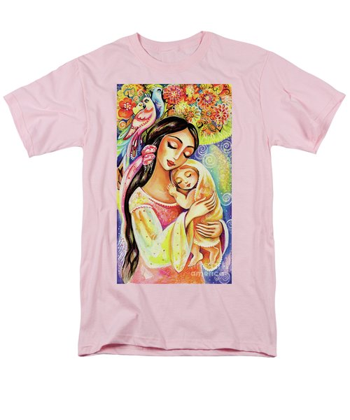Men's T-Shirt  (Regular Fit) featuring the painting Little Angel Dreaming by Eva Campbell