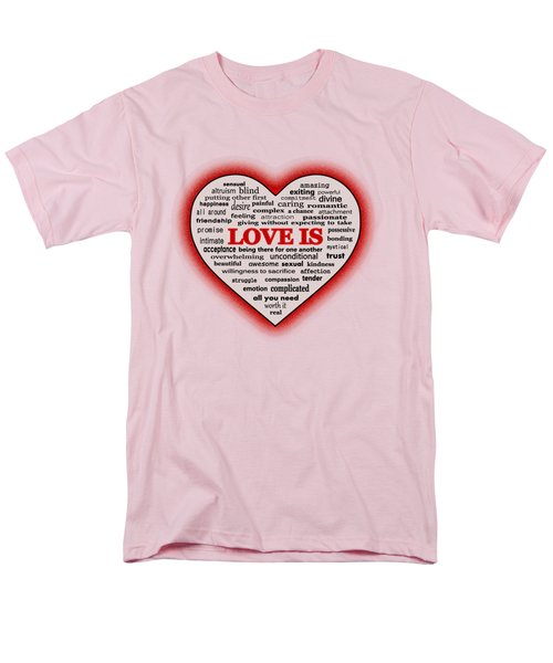 Men's T-Shirt  (Regular Fit) featuring the digital art Love Is by Anastasiya Malakhova