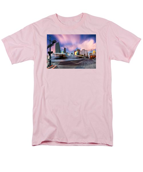 Main And Bell St Downtown Houston Texas Men's T-Shirt  (Regular Fit) by Micah Goff