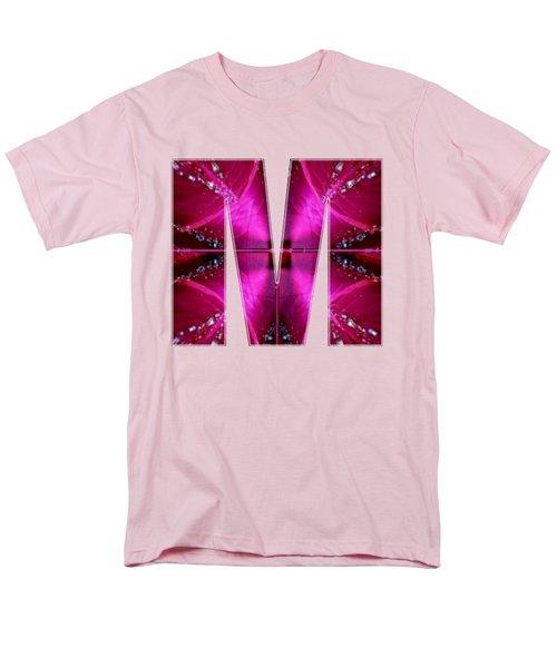 Mmm Mm M Alpha Art On Shirts Alphabets Initials   Shirts Jersey T-shirts V-neck By Navinjoshi Men's T-Shirt  (Regular Fit) by Navin Joshi