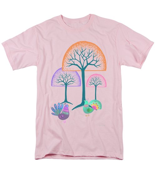 Moon Bird Forest Men's T-Shirt  (Regular Fit) by Little Bunny Sunshine