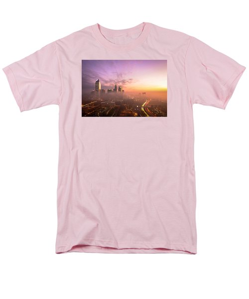 Men's T-Shirt  (Regular Fit) featuring the photograph Morning Charlotte Rush Hour by Serge Skiba