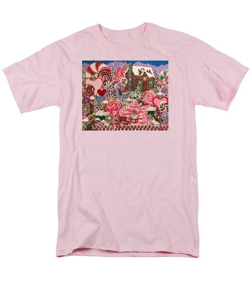 Ms. Elizabeth Peppermint World Men's T-Shirt  (Regular Fit) by Jennifer Lake